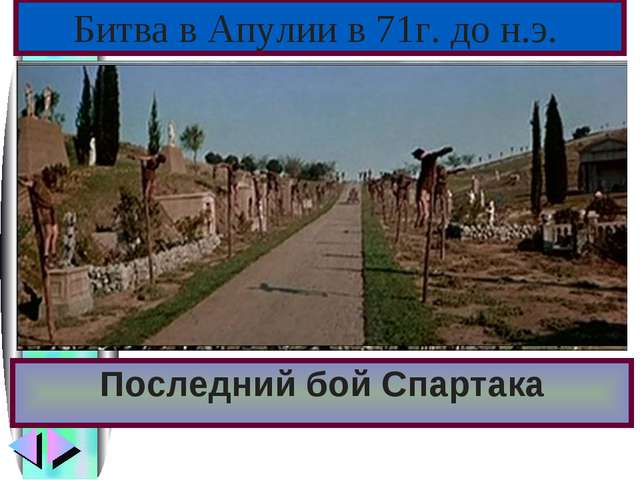 Последний бой Спартака Битва в Апулии в 71г. до н.э.