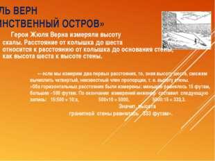 ЖЮЛЬ ВЕРН «ТАИНСТВЕННЫЙ ОСТРОВ» Герои Жюля Верна измеряли высоту скалы. Расст