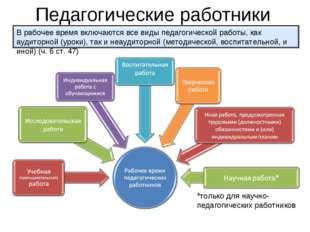 Педагогические работники *только для научно-педагогических работников