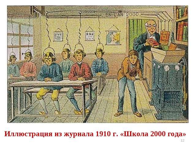 * Иллюстрация из журнала 1910 г. «Школа 2000 года»