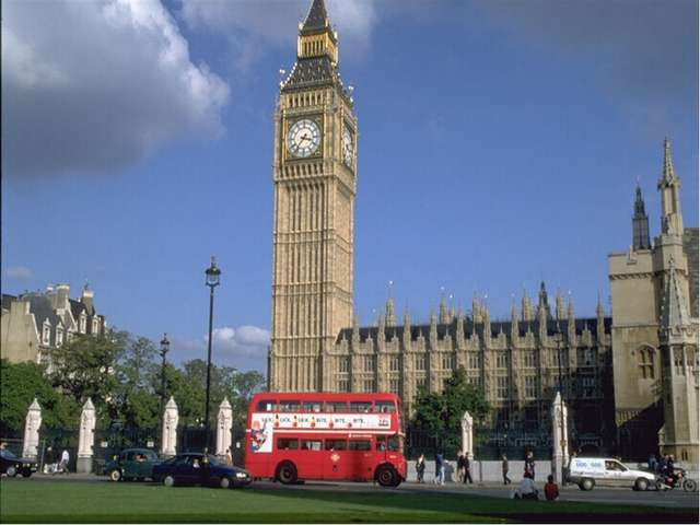 Question №10 What is Big Ben? The bell of the clock on the Houses of Parliame...
