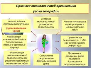 . Четкое видение деятельности ученика (проектирование урока) Организация взаи