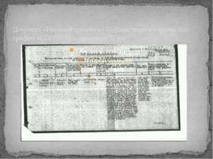 Документ «Именной список» из Государственного архива под грифом «СЕКРЕТНО» пр