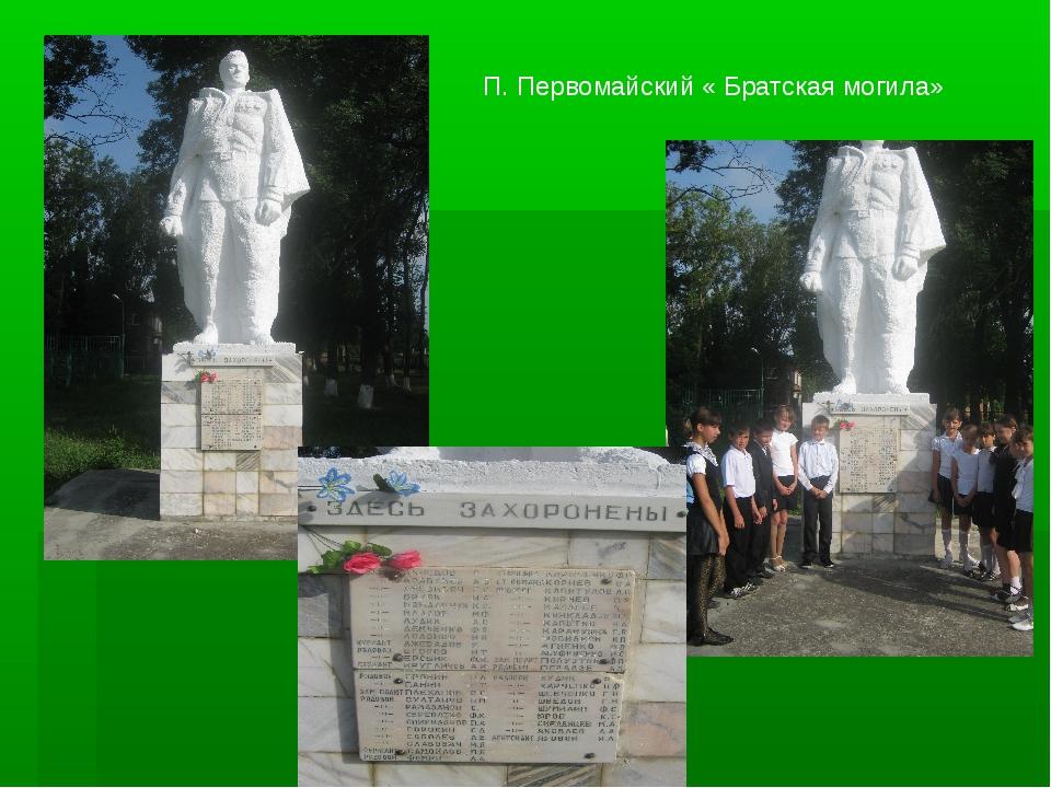 П. Первомайский « Братская могила»