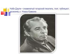 Наби Даули – знаменитый татарский писатель, поэт, публицист, уроженец с. Ново
