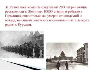 За 15 месяцев момента оккупации 2000 курян немцы расстреляли в Щетинке, 10000