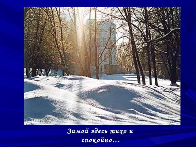 Зимой здесь тихо и спокойно…