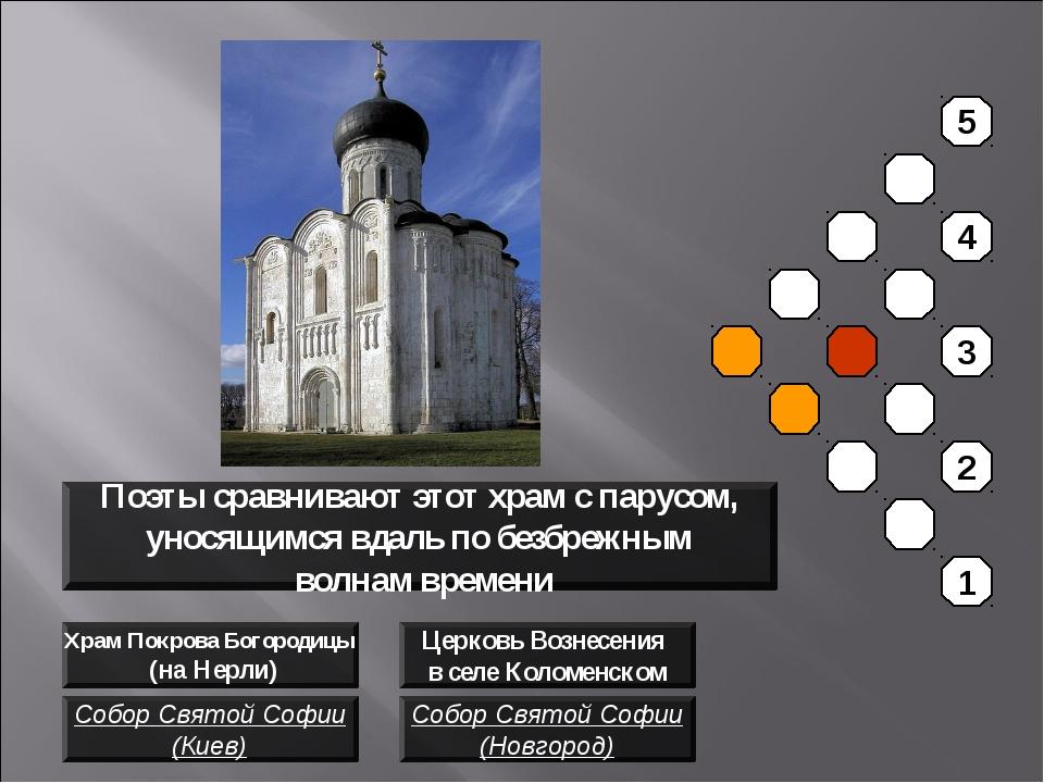 Храм Покрова Богородицы (на Нерли) Собор Святой Софии (Киев) Церковь Вознесен...