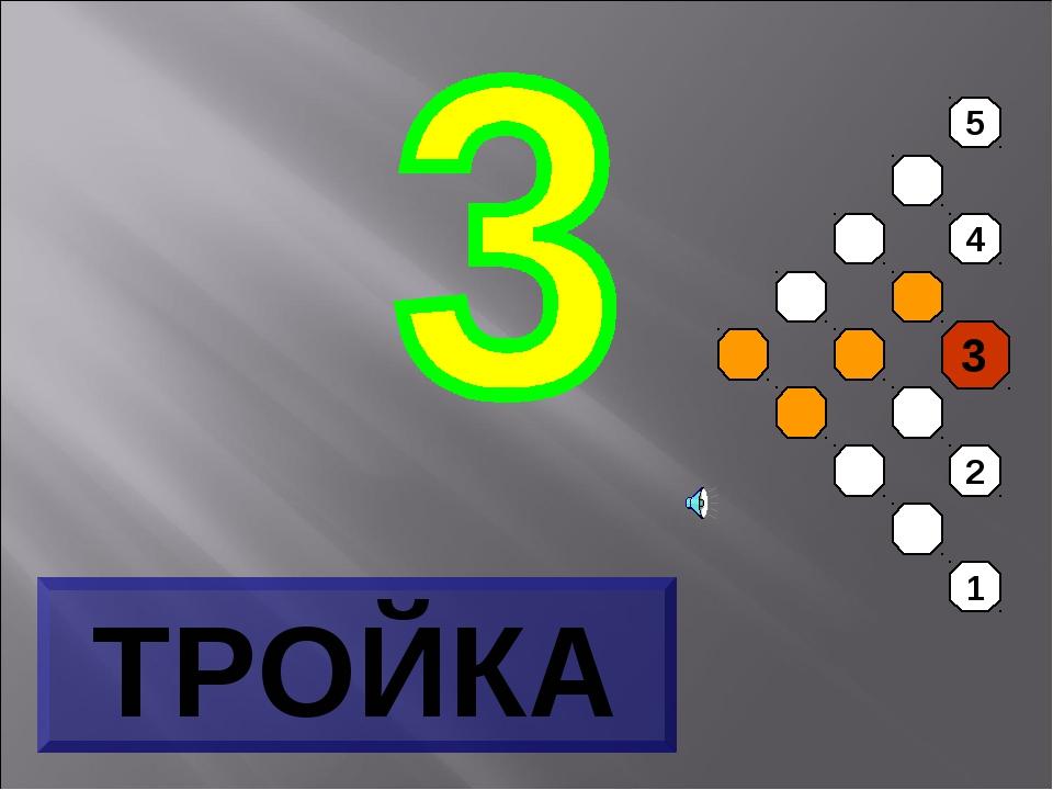 5 4 3 2 1 ТРОЙКА