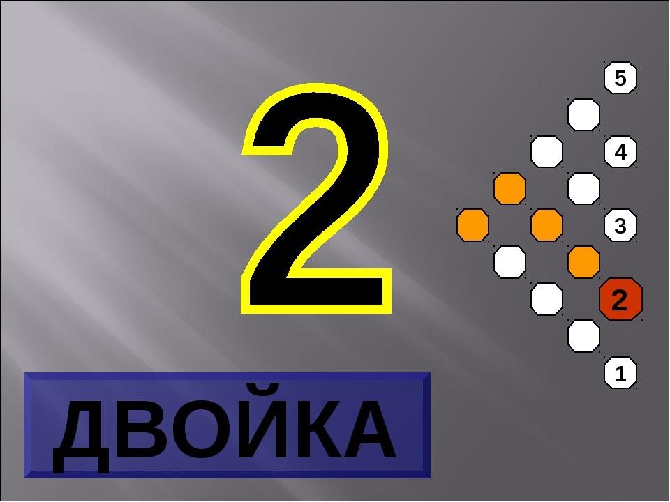 5 4 3 2 1 ДВОЙКА