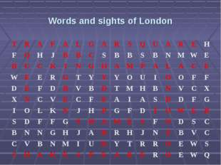 Words and sights of London TRAFALGARSQUAREH FQHJBBCSB