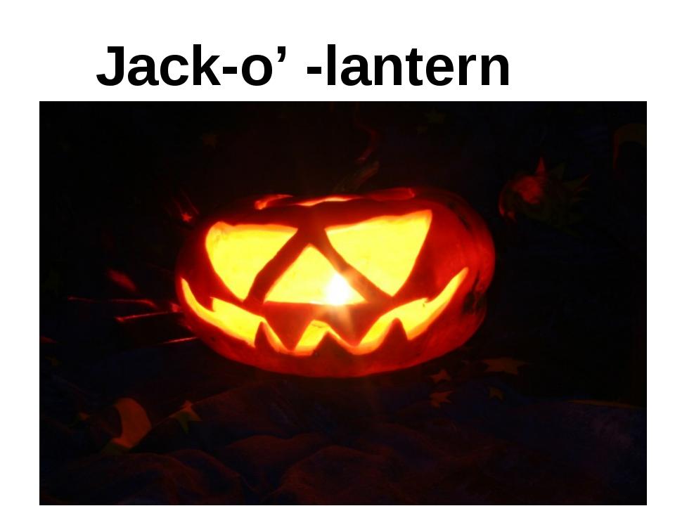 Jack-o' -lantern