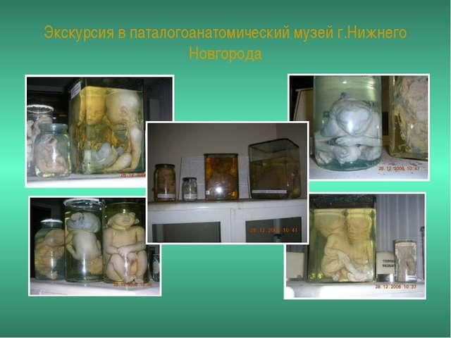 Экскурсия в паталогоанатомический музей г.Нижнего Новгорода