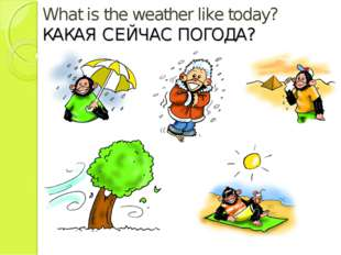 What is the weather like today? КАКАЯ СЕЙЧАС ПОГОДА?