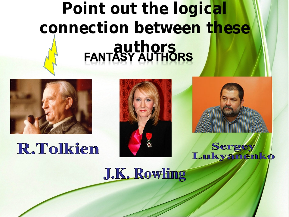 Point out the logical connection between these authors