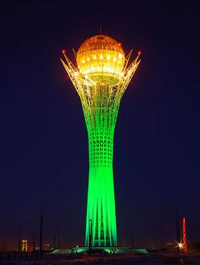 Astana-Baiterek-at-night