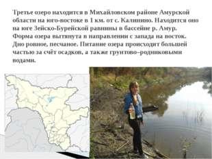 Третье озеро находится в Михайловском районе Амурской области на юго-востоке