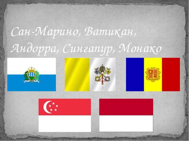 Задание 3. Ответ: Сан-Марино, Ватикан, Андорра, Сингапур, Монако