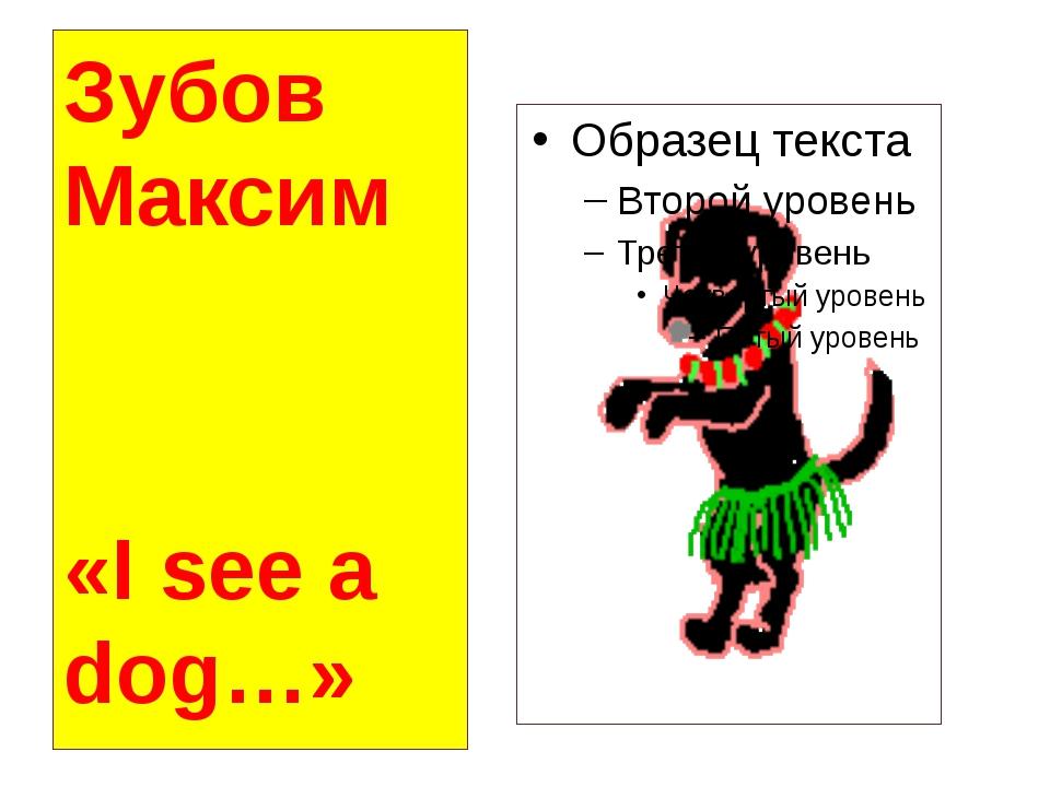 Зубов Максим «I see a dog…»