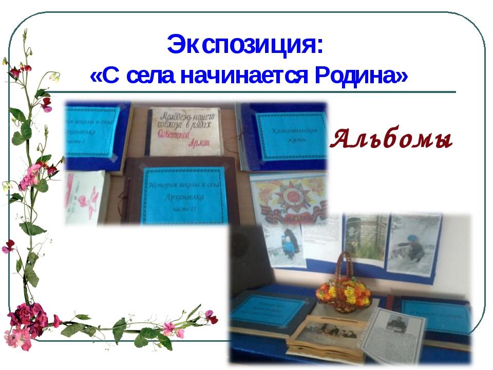 Экспозиция: «С села начинается Родина» Альбомы