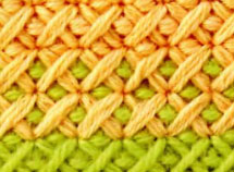 вышивка двойным крестом