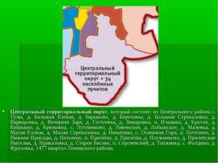 Центральный территориальный округ, который состоит: из Центрального района г.