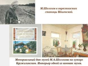 М.Шолохов в окрестностях станицы Вёшенской. Мемориальный дом-музей М.А.Шолохо
