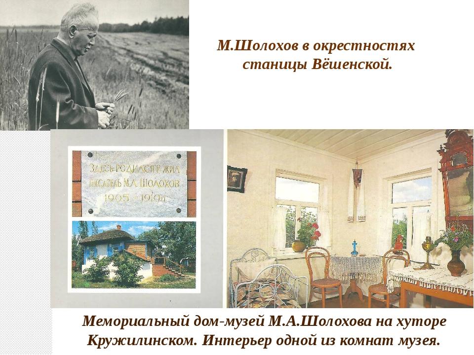 М.Шолохов в окрестностях станицы Вёшенской. Мемориальный дом-музей М.А.Шолохо...