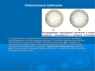 Если различную электронную плотность в отдельных участках, например, невозбуж