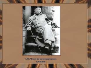 А.П. Чехов по возвращении из клиники