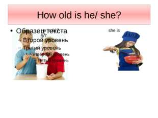 How old is he/ she? He is 6/ 7… she is 6/7…