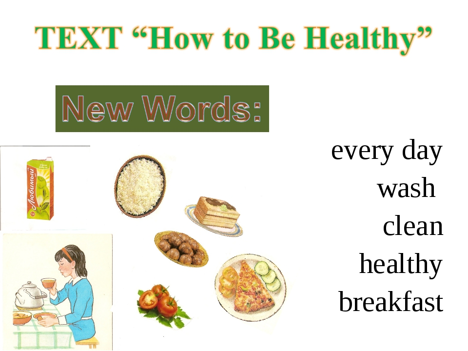 every day wash clean healthy breakfast