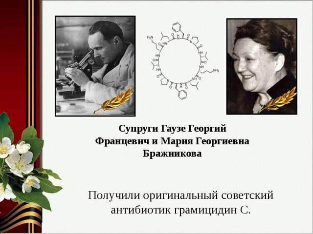 Супруги Гаузе Георгий Францевич и Мария Георгиевна Бражникова Получили оригин...