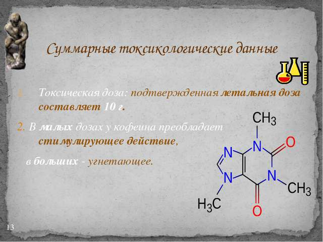 Суммарные токсикологические данные Токсическая доза: подтвержденная летальна...