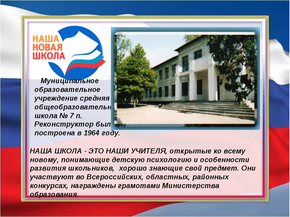 Муниципальное образовательное учреждение средняя общеобразовательная школа №...