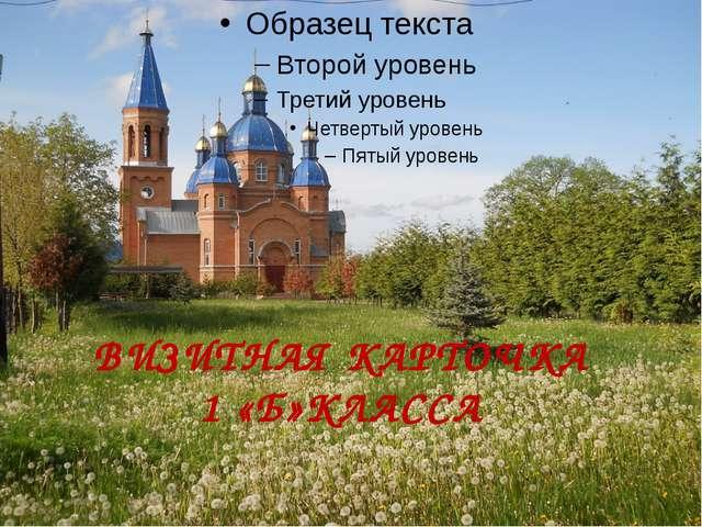 ВИЗИТНАЯ КАРТОЧКА 1 «Б»КЛАССА