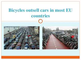 Bicycles outsell cars in most EU countries