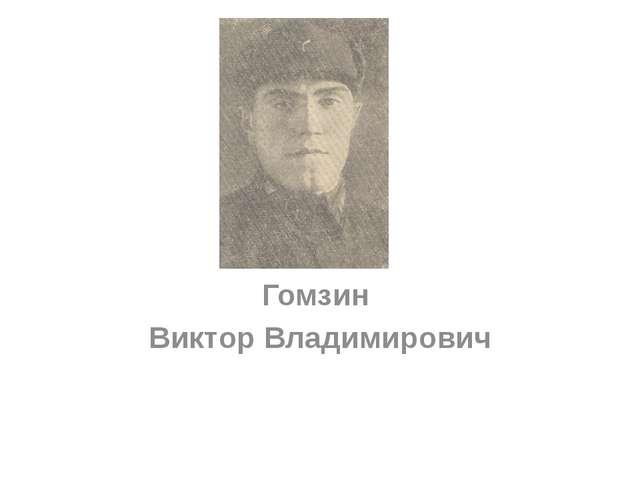 Гомзин Виктор Владимирович