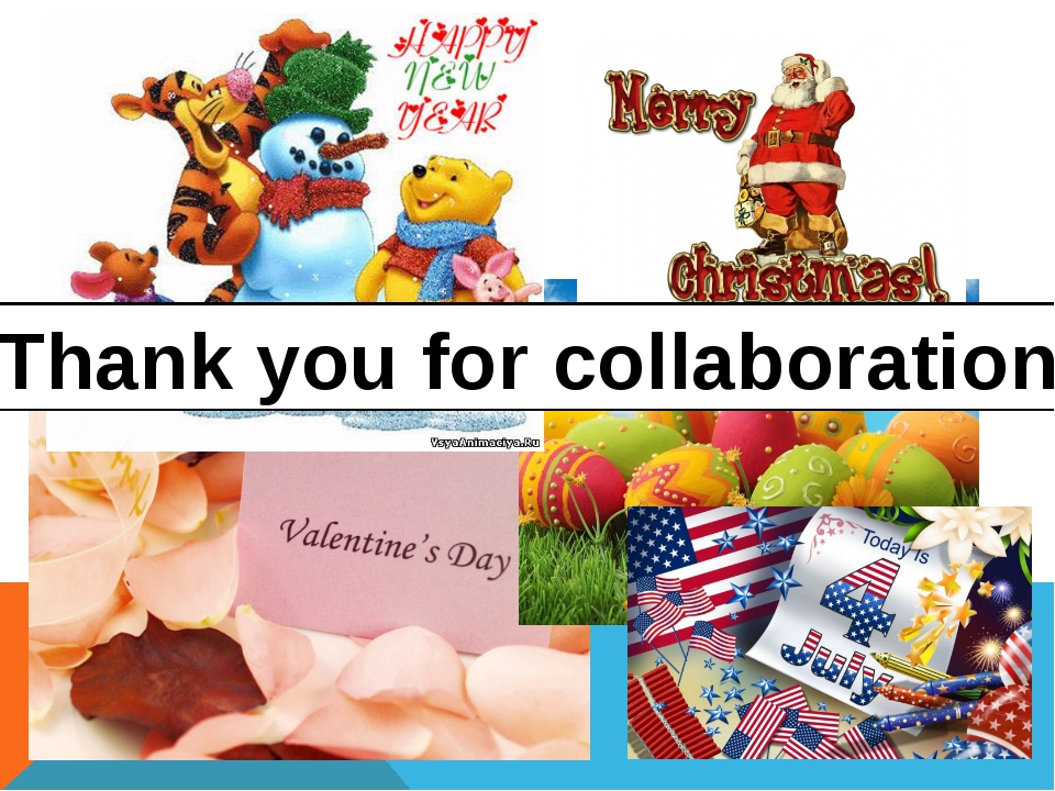 Thank you for collaboration