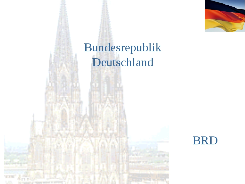 Bundesrepublik Deutschland BRD