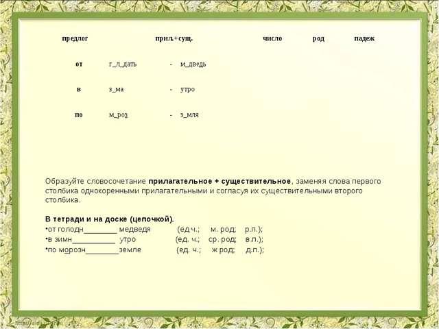 Образуйте словосочетание прилагательное + существительное, заменяя слова перв...