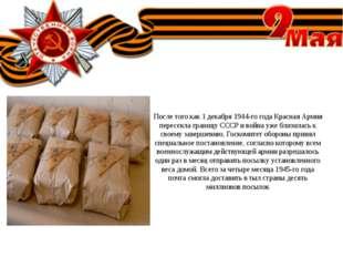 После того как 1 декабря 1944-го года Красная Армия пересекла границу СССР и