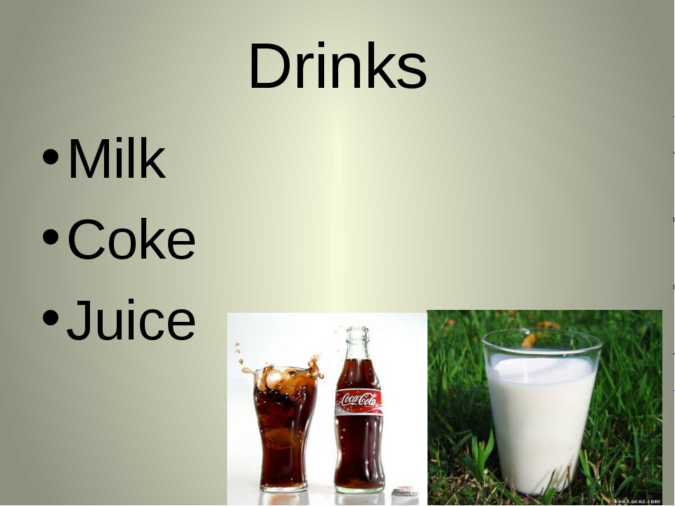 Drinks Milk Coke Juice