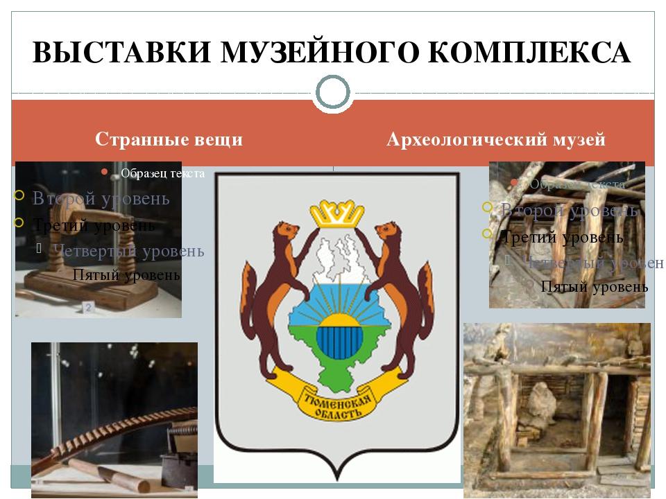 Странные вещи Археологический музей ВЫСТАВКИ МУЗЕЙНОГО КОМПЛЕКСА