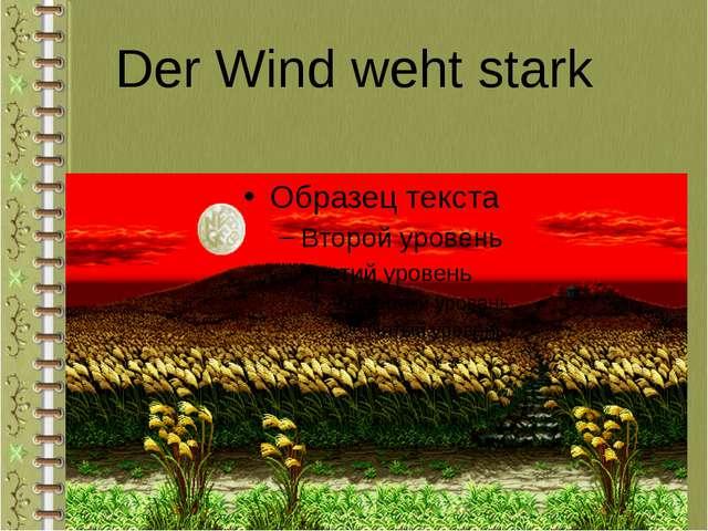 Der Wind weht stark