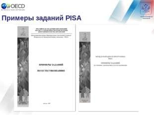 Примеры заданий PISA