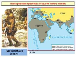 Поиск решения проблемы (открытие нового знания) «Древнейшие люди» Овладели ог