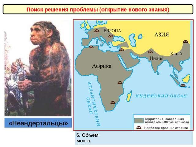 Поиск решения проблемы (открытие нового знания) «Неандертальцы» Умели строить...