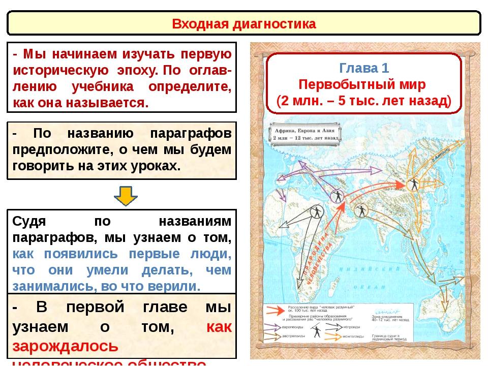 Глава 1 Первобытный мир (2 млн. – 5 тыс. лет назад) Судя по названиям парагра...