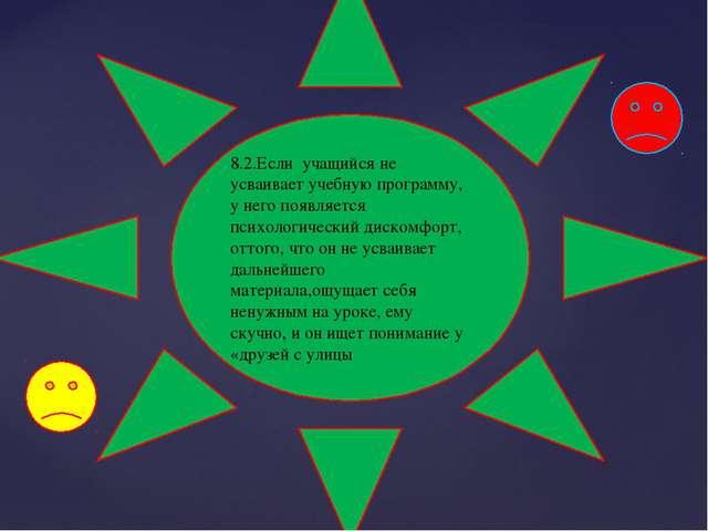 8.2.Если учащийся не усваивает учебную программу, у него появляется психологи...